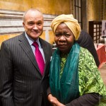 New York City Police Commissioner Ray kelly and Queen Mother Dr. Delois Blakely Community mayor of Harlem Goodwill Ambassador to Africa