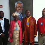 High level General assembly delegate from Gambia, left to right, Jamaal Patterson Queen Mother Dr Blakely, Delegate, Jason Rosario