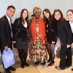 Queen Mother with Young Professionals