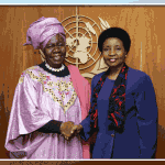10-5-2009 United Nations Building - Deputy Secretary-General Asha-Rose Migiro (right) meets with Delois Blakely, Community Mayor of Harlem, New York