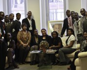 Youth Delegates from Haiti visit the Permanent Mission of Haiti to the United Nations