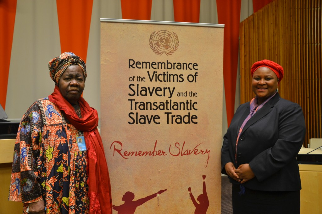 Queen Mother Blakely with DPI Rep Hawa Diallo
